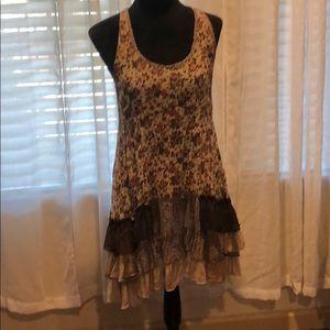 Layered floral summer dress